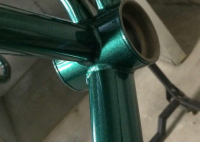 Bicycle frame Dormant Hunter Green with Clear topcoat