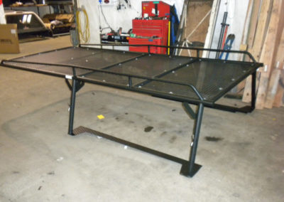 Canopy Style with removable expanded metal in Matte Black