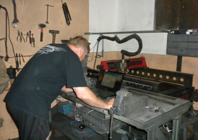 Cutting rack parts on waterjet