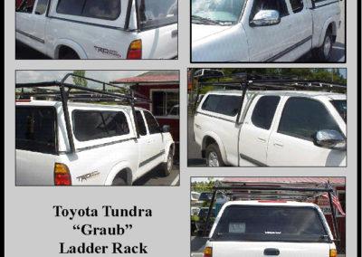 Toyota Tundra Graub Ladder Rack Vision 500 Cab High Canopy